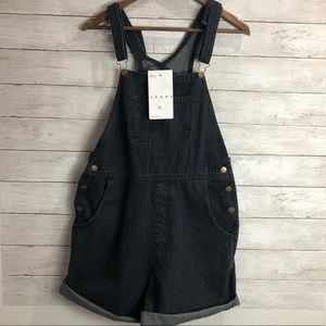 NWT American Apparel Black Overall Shorts